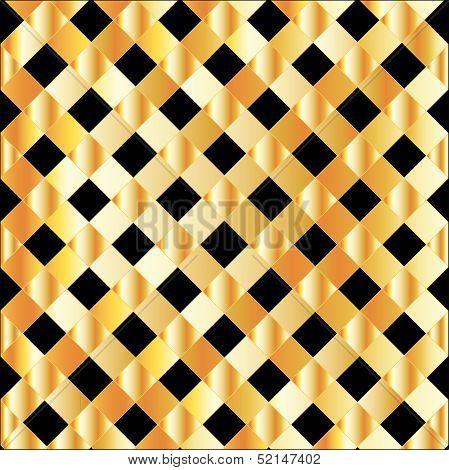 Gold grid background