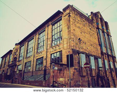 Retro Looking Glasgow School Of Art