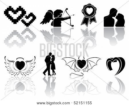 Black Valentines icons