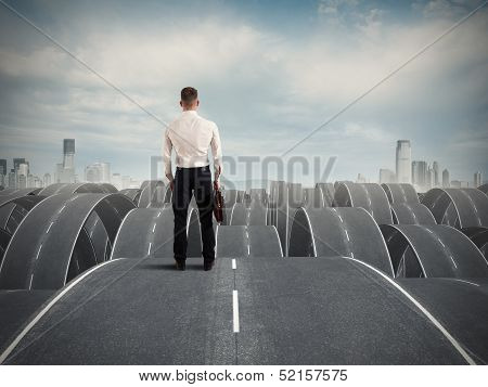 Businessman In The Face Of Difficulties