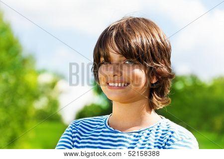 Close Portrait Of 14 Boy