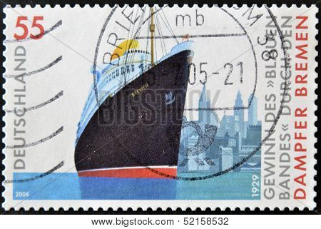 Germany - Circa 2004: A Stamp Printed In Germany Shows Image Of The Steamship
