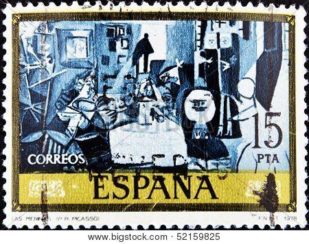 Spain - Circa 1978: A Stamp Printed In Spain Shows Las Meninas By Pablo Picasso, Circa 1978