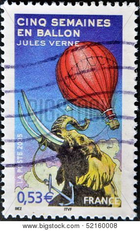 A stamp printed in France shows an image of