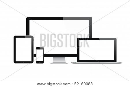 Modern Technology Devices Set poster