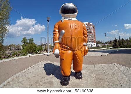 Samara, Russia - April 25: Sculpture