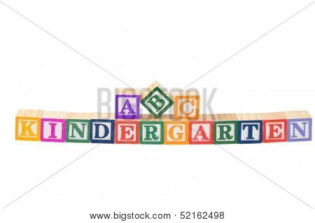 Baby Blocks Spelling Kindergarten