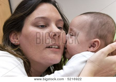 Baby Kissing Mom