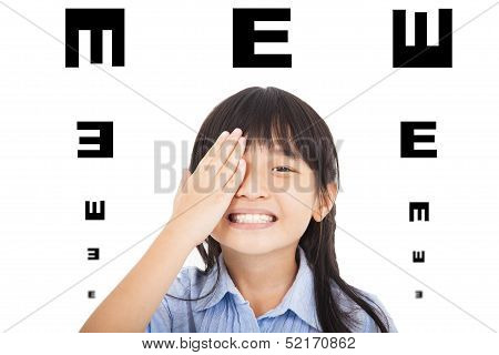 Happy Child  With Eyesight Concept