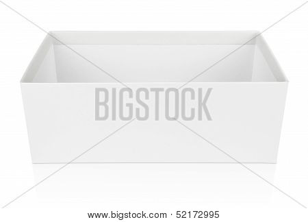 Open Shoe Box Isolated On White