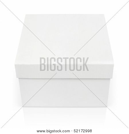 Closed Square Box Isolated On White