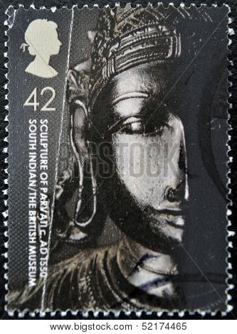 United Kingdom - Circa 2003: A Stamp Printed In Great Britain Shows Sculpture Of Parvati, Circa 2003