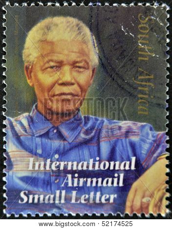 Republic Of South Africa - Circa 2008: A Stamp Printed In Rsa Shows Nelson Mandela, Circa 2008
