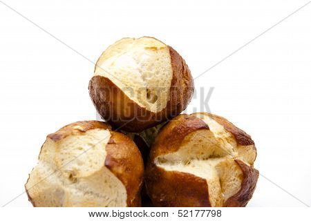 Fresh lyes bread roll