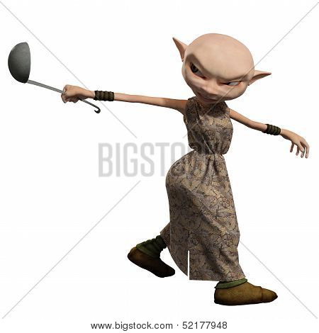 Goblin Servant Girl with Ladle