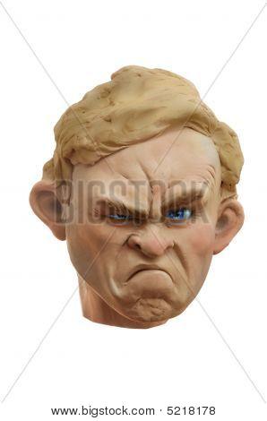 Grumpy Plasticine Face