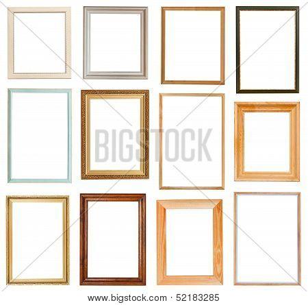 Set Of Vertical Picture Frames