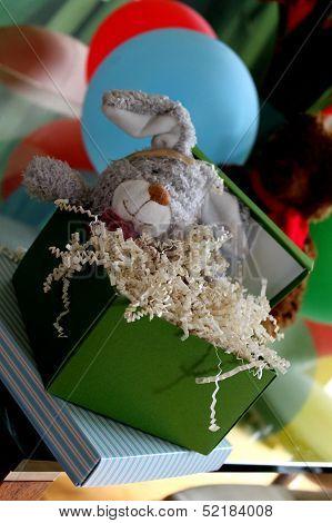 Stuffed Rabbit Toy in Elaborate Gift Box