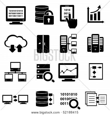Conjunto de iconos de Big Data