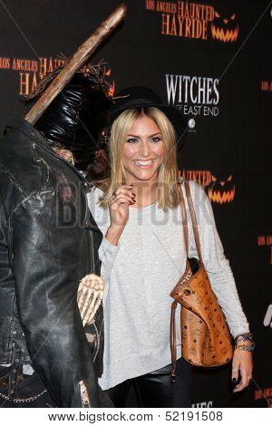 LOS ANGELES - OCT 10:  Cassie Scerbo at the 8th Annual LA Haunted Hayride Premiere Night at Griffith Park on October 10, 2013 in Los Angeles, CA