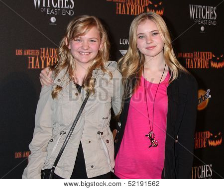 LOS ANGELES - OCT 10:  Kayla McCormick, Sierra McCormick at the 8th Annual LA Haunted Hayride Premiere Night at Griffith Park on October 10, 2013 in Los Angeles, CA