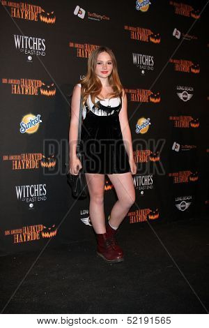 LOS ANGELES - OCT 10:  Natalie Alyn Lind at the 8th Annual LA Haunted Hayride Premiere Night at Griffith Park on October 10, 2013 in Los Angeles, CA