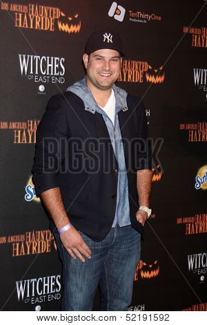 LOS ANGELES - OCT 10:  Max Adler at the 8th Annual LA Haunted Hayride Premiere Night at Griffith Park on October 10, 2013 in Los Angeles, CA