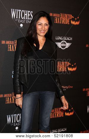 LOS ANGELES - OCT 10:  Tehmina Sunny at the 8th Annual LA Haunted Hayride Premiere Night at Griffith Park on October 10, 2013 in Los Angeles, CA