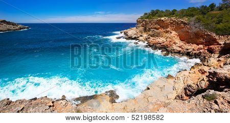 Ibiza Punta de Sa Galera beach in San Antonio at Balearic Islands Spain