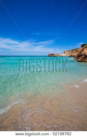 Cala Tarida in Ibiza beach Sant Josep at Balearic Islands