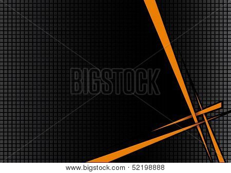 Background Black Orange Disco