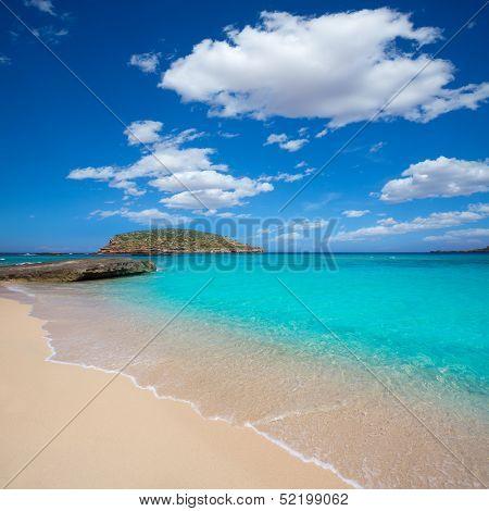 Ibiza Cala Conta Comte beach in San Jose at Balearic Islands Spain