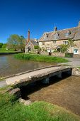 stock photo of slaughter  - Cotswold village of Lower Slaughter - JPG