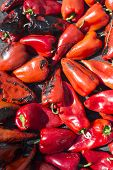picture of piquillo pepper  - Roasted red peppers background - JPG