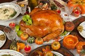 picture of fall decorations  - Thanksgiving turkey - JPG
