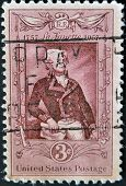 United States - Circa 1957: Stamp Printed By United States, Shows Marquis De Lafayette, Circa 1957