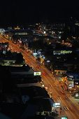 Aerial Night View Of The Main Road Through Gatlinburg, Tennessee Vertical