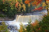 foto of cataract  - Tahquamenon Falls State Park Paradise Upper Peninsula Michigan
