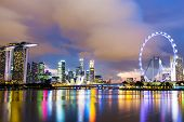 image of singapore night  - Singapore night - JPG