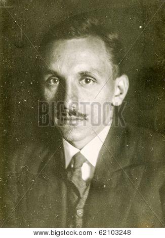 LODZ, POLAND, CIRCA 1960's: Vintage photo of man