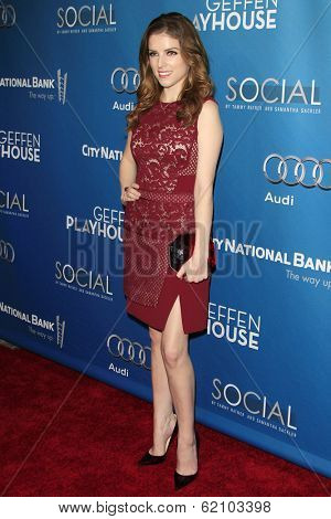 LOS ANGELES - MAR 22: Anna Kendrick at the Geffen Playhouse's Annual 'Backstage At The Geffen' Gala at Geffen Playhouse on March 22, 2014 in Los Angeles, California