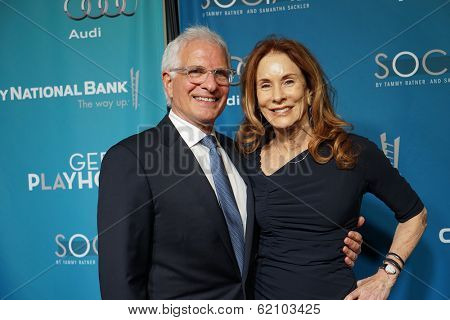 LOS ANGELES - MAR 22: Pamela Robertson Hollander, Robert Hollander at the Geffen Playhouse's Annual 'Backstage At The Geffen' Gala at Geffen Playhouse on March 22, 2014 in Los Angeles, California