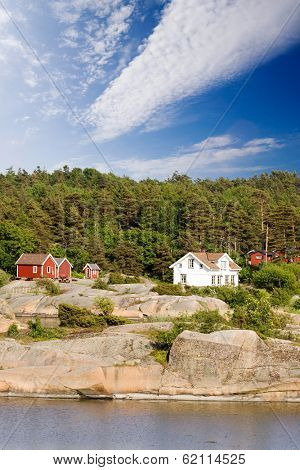A typical house on the coast of norway