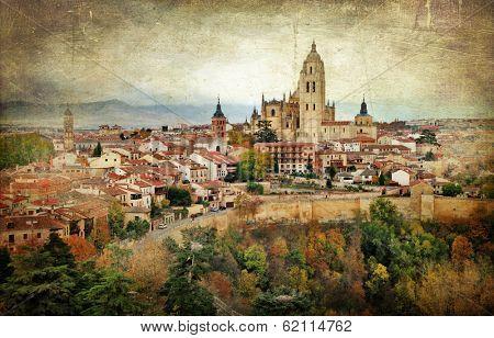 Segovia,Spain, artistic retro styled picture