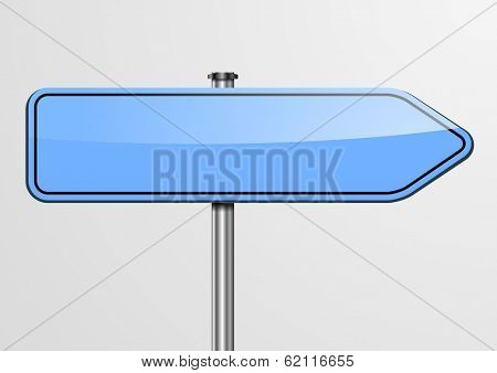 detailed illustration of an empty blue roadsign, eps10 vector