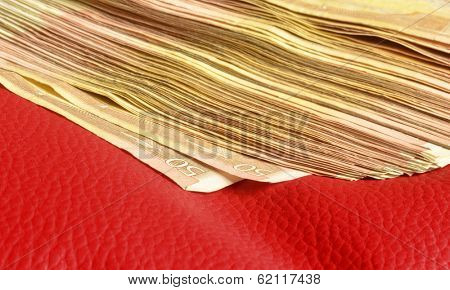 Five thousands of euro in fifty euros bills