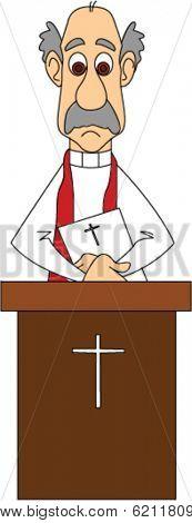 Preacher Behind Pulpit