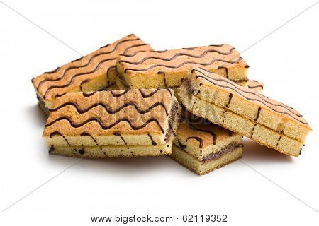 sweet dessert on white background