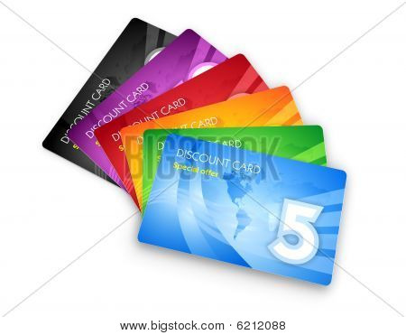 Set of discount cards