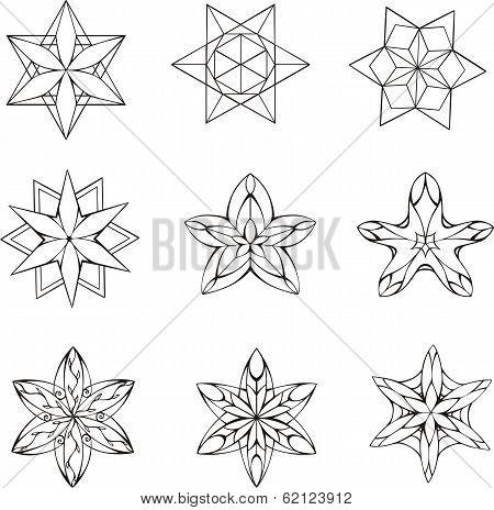 Dingbats In Shape Of Star